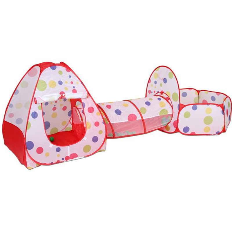 3 en 1 multicolore bébé tente pour enfants pliable jouet enfants en plastique maison jeu jouer gonflable tente balle piscine