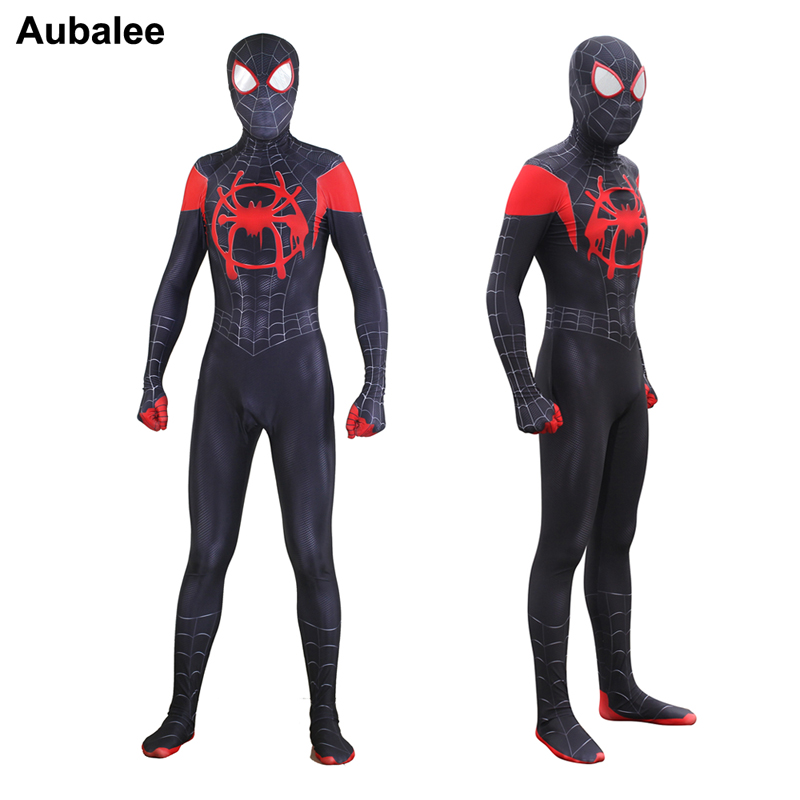 Kids Boys Mens Venom Black Spiderman Jumpsuit Party Spider-Man Cosplay Costume