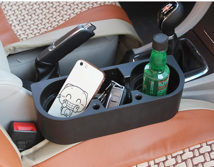 Universal Car Seat Cup Double Digit Gap Glove Box Drink Holder Pen Cell Phone Racks Multifunctional Styling In Drinks Holders From