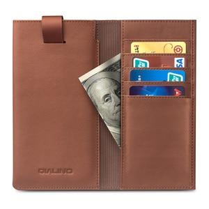 Image 5 - מקרה תיק עור בעבודת יד יוקרה iPhone8 QIALINO חריץ כרטיס פאוץ ארנק כיסוי עור אמיתי עבור iPhone8 בתוספת 4.7/5.5 inch