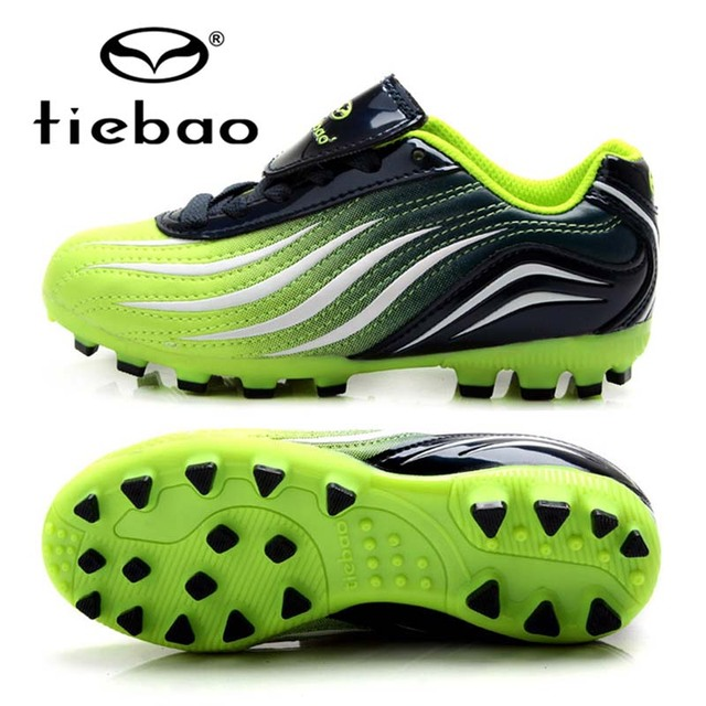 TIEBAO Professional Botas De Futbol Soccer Cleats Kids Training Football Boots Boys Girls Training AG Soles Football Sneakers