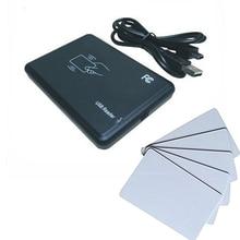 Бесплатная доставка 15 видов формат вывода плоский корпус 13.56 мГц NFC Reader IC Card Reader для ми-тариф порт USB + 10 шт. белый карты
