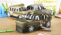 Portable Oxford Cool Camouflage Car Pouch Style Large Pencil Case Pouch Bag Pen Holder School Supply