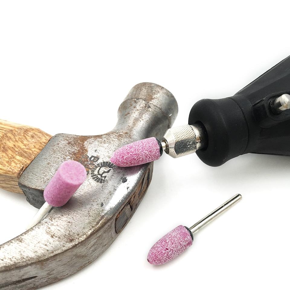 Cone Shape Abrasive Mounted Stone Rotary Tool Grinding 10pcs