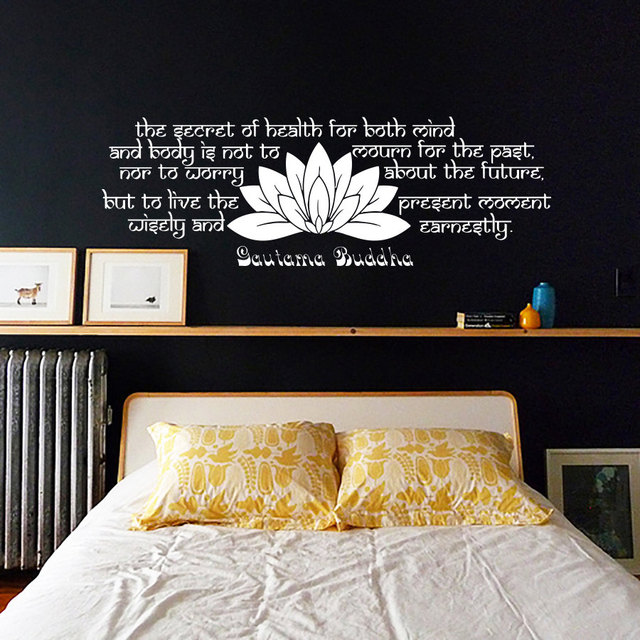 Buddha Schlafzimmer schlafzimmer kopfteil lotus wandaufkleber buddha sprüche text vinyl