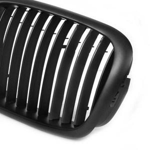 Image 5 - Rejillas delanteras de doble línea, color negro mate, para BMW serie 5, E39, 2006 2012, SR1G, accesorios de estilo de coche