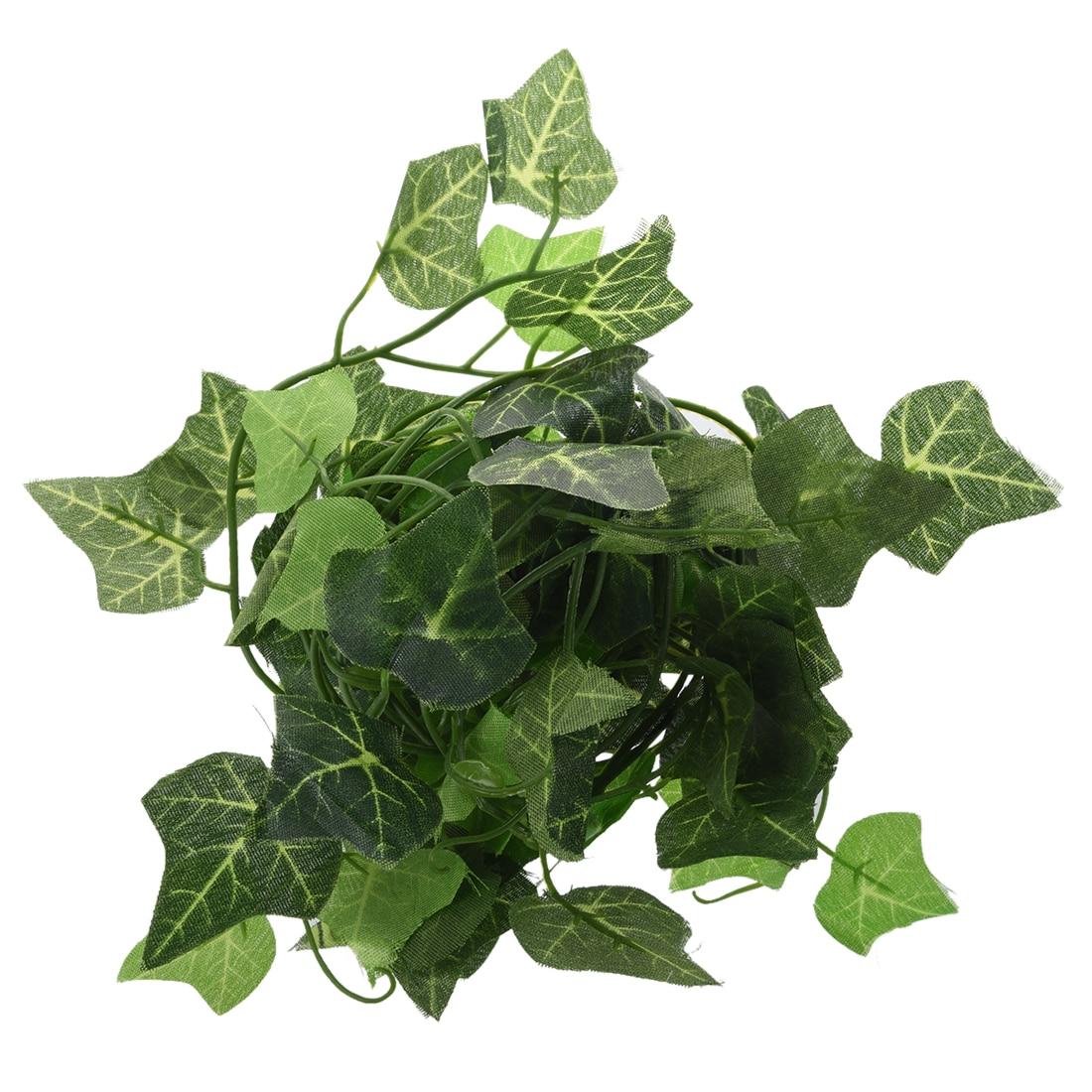 Uesh-новый сад Домашний Декор Поддельные завод зеленый листья плюща Лоза Листва искусственные цветы-батата листья