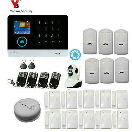 Yobang Security Russian/English/French/Spanish WiFi Alarm System Home GSM GPRS Burglar Alarm IOS Android APP Control Security цены онлайн