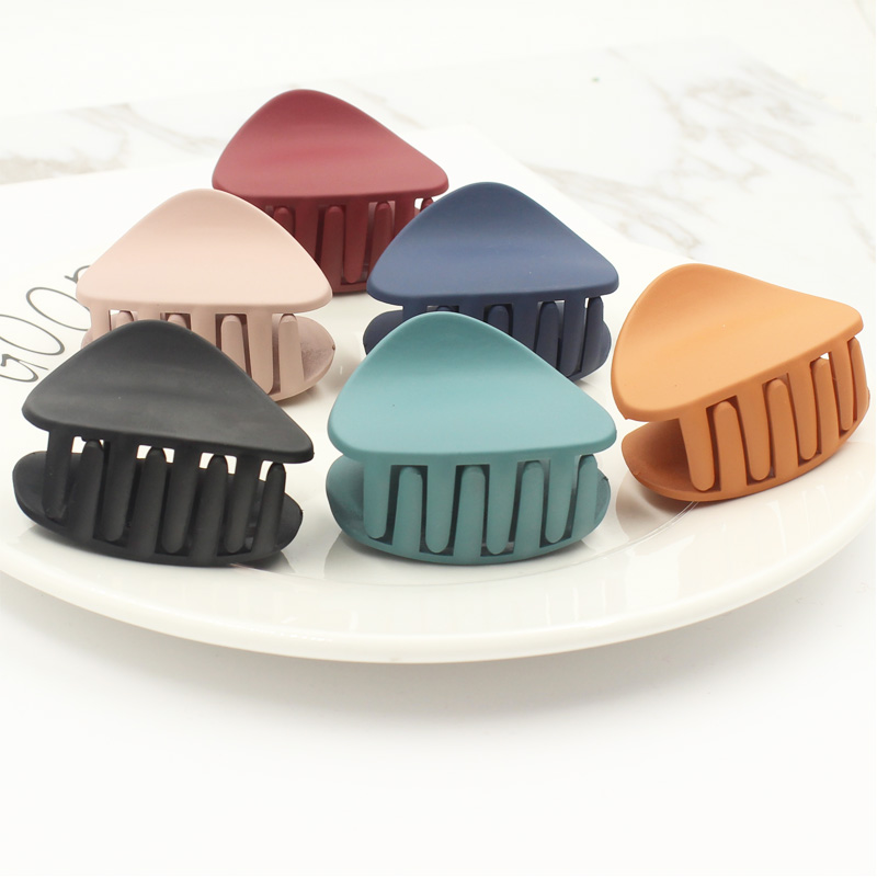 Fashion Colorful Acrylic Hairpins Hair Clip Crab Hair Claws For Women Girl New Simple Elegant Clamp Hair Accessories   Headwear
