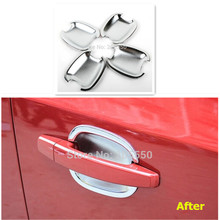 New Car Door Handle Bowl Cover Trim Fit For Chevrolet Cruze 2009-2014 Aveo Captiva Spark Buick Excelle 4pcs per set car-styling