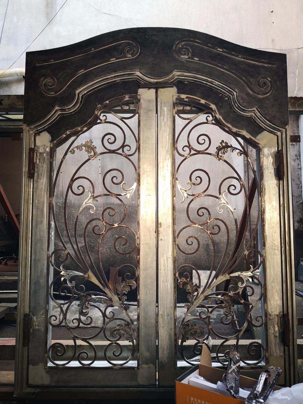 Custom Safety Door Grill Gate Grilles Fences Railings: Iron Safety Door Custom Wrought Iron Entry Doors-in Doors