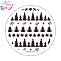 Pentacle Pine tree Image Stamp Diy Stamping Nail Art Plates Template Stainless Steel Stencil For Nails JH235