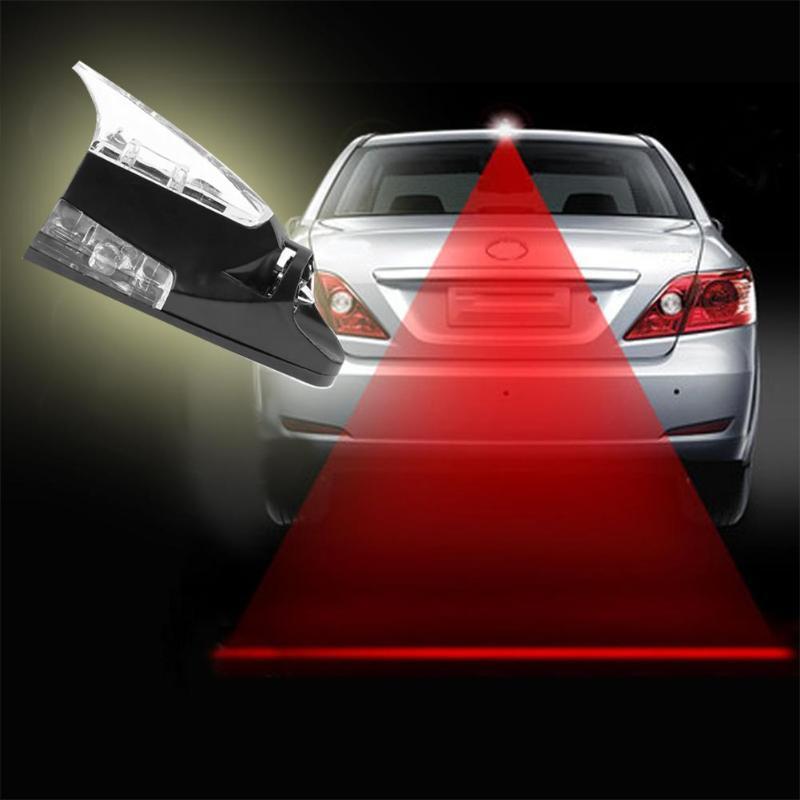Car Wind Power LED Light Shark Fin Antenna Warning Flash Lamp Top Decor
