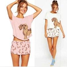 Cu t e футболка женщин добавить Розовый Лето 2017 свободные топы такса прин T Короткие рукава плюс Размеры co t на Футболка blusas femininas
