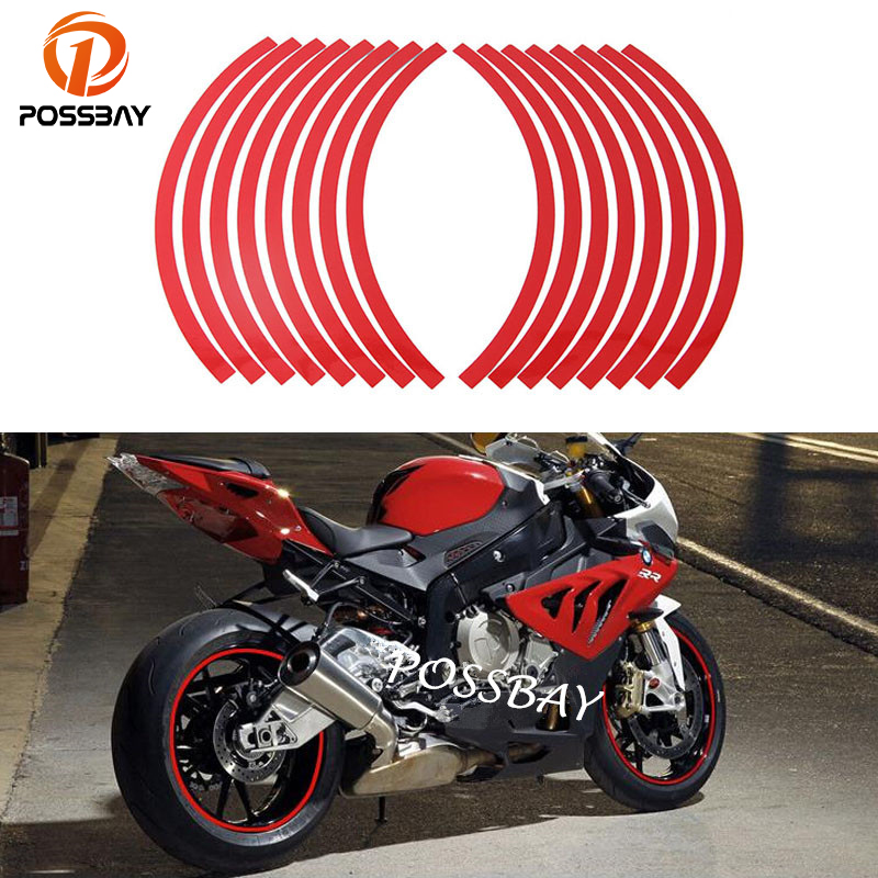 Vehicleartz White Wheel Rim Tape Graduated Stripe fit All Makes of Motorcycles Trucks Cars