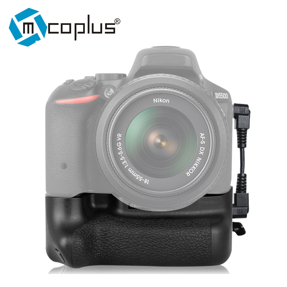 Mcoplus New Vertical Battery Grip VD-D5500 for Nikon D5500 Works with 2 x EN-EL14a Lithium ion Batteries as Meike MK-D5500 meike vertical battery grip for nikon d7100 d7200 as mb d15 2 en el15 dual charger