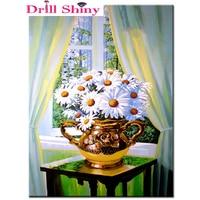 Diamond Embroidery Daisy Flower 5d Diy Diamond Painting Cross Stitch Full Square Drill Rhinestone Mosaic Decoration