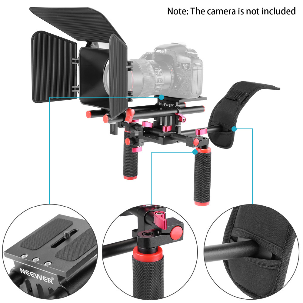 Neewer Camera Movie Video Making Rig System Film-Maker Kit for Canon/Nikon/Sony/Other DSLR Cameras, DV Camcorders new portable dslr rig film movie kit shoulder mount video photo studio accessories for canon sony nikon slr camera camcorder dv