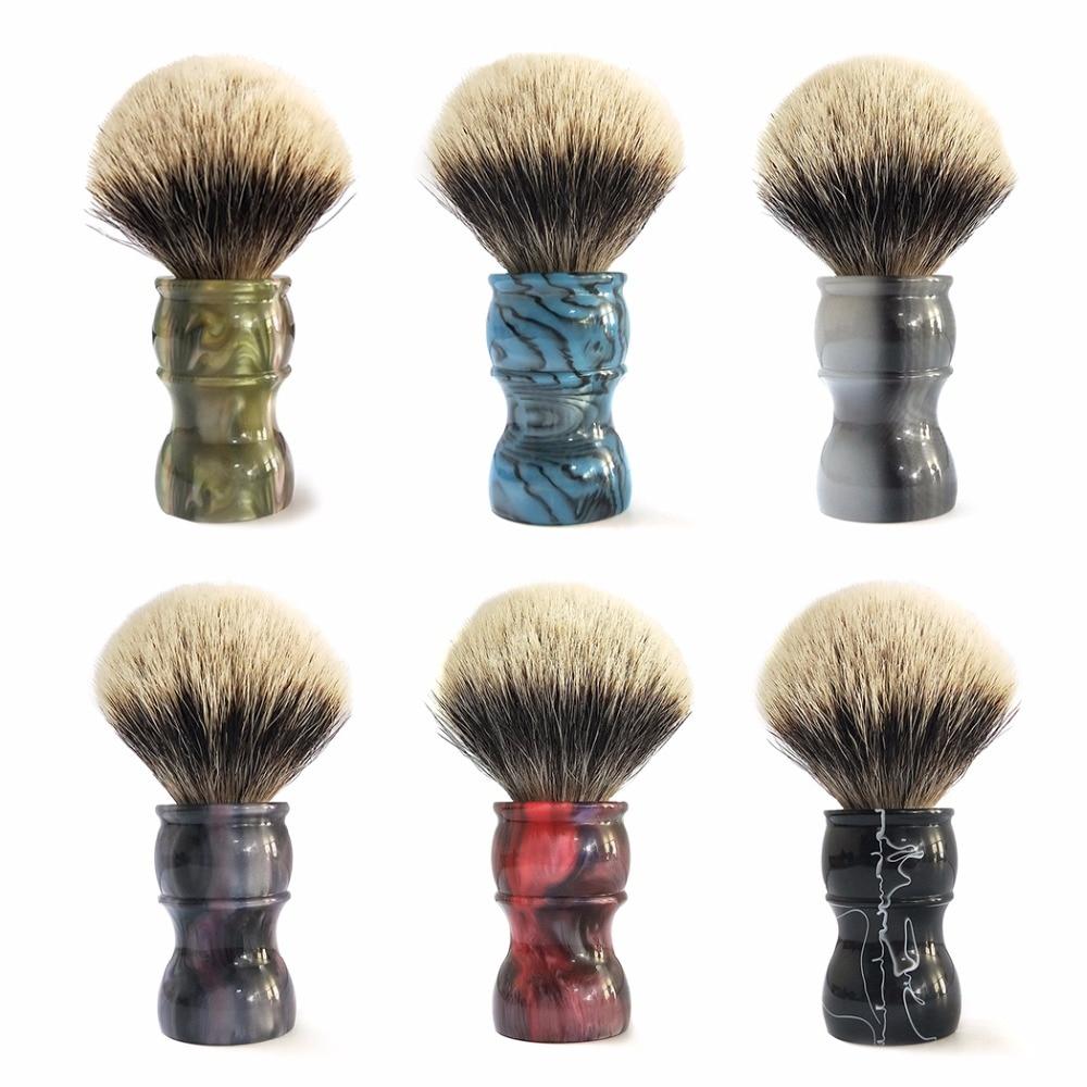 ZY Natural Best Badger Hair Shaving Brush Men Shave Beard Barber Razor Soap Brushes High Quality Long Handle 2pc set stainless steel man shaving safety razor and badger beard shave brush