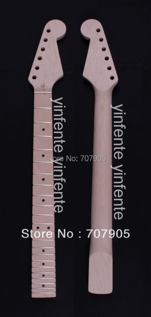 1x New ST Electric guitar neck Maple wood Fretboard 22 fret 25.5 Unfinished Free shipping Dropshipping Wholesale High quality 1x electric guitar neck mahogany maple wood fretboard truss rod 22 fret 25 5