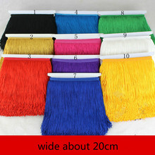 20CM Width Polyester Tassel lace Fringe Trim For DIY Latin Dress Lace 5 yards/Lot