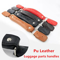 Replacement Trolley Luggage Repair Parts Handles Suitcase Accessories PU Leather Knopper bags Portable Handles Trolley
