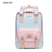 Women Kawaii Pink Backpack Junior High Cute School Bag Mini Teenager Travel Rucksack Ladies Bookbag Mochila Feminina Canvas