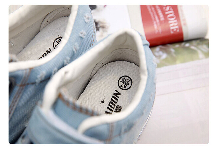 Free Shipping Spring and Autumn Men Canvas Shoes High Quality Fashion Casual Shoes Low Top Brand Single Shoes Thick Sole 7583 -  -  (3) -  -