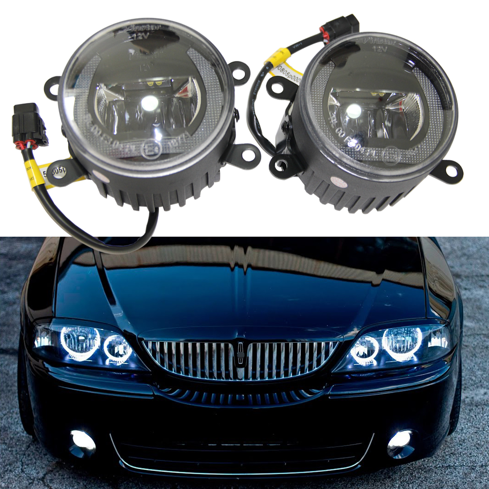 2x OEM fit LED fog lights For Lincoln LS 2005-2006 Navigator 2007-2015 Car styling Drl Led Daytime Running Light Lamp