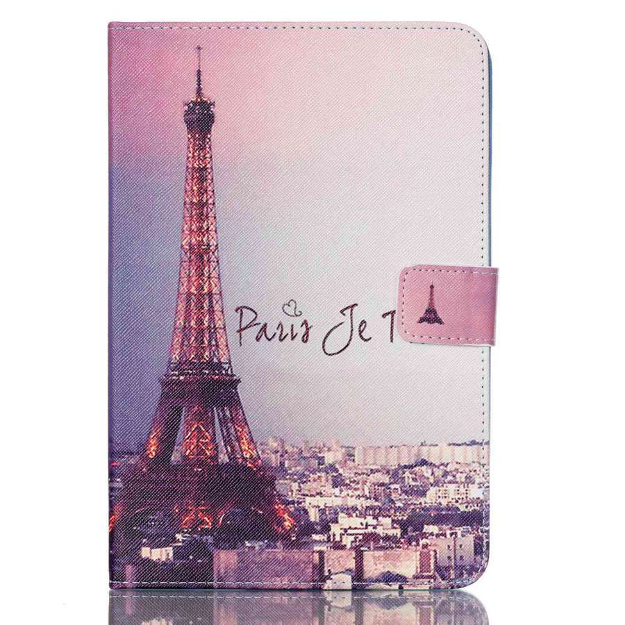 3D Fashion Printing PU Leather Case For Samsung Galaxy Tab A 8.0 T350 T355 SM-T355 Smart Cover Tablet Case For Tab A 8.0 Inch+Gf
