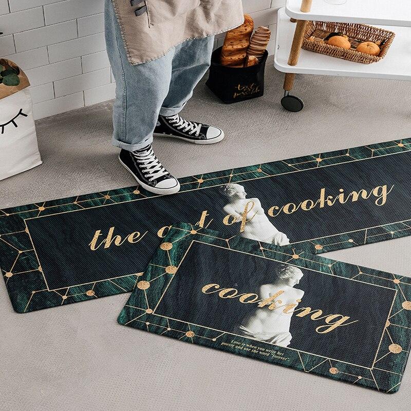 Cuisine tapis de cuisine tapis PVC Faux cuir confort imperméable lavable tapis antidérapants pour ferme/couloir/buanderie