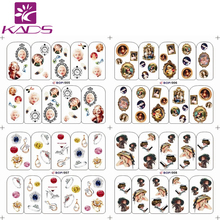 LARGE BOP5-8/Set (4 DESIGNS IN 1).Water decal Nail Stickers