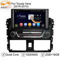 5.1.1 GreenYi 8 ''Quad Core 1024*600 Android Carro DVD Veículo GPS jogador Unidade de Cabeça para Toyota Yaris Vios 2014 2015 WIFI 3G 4G