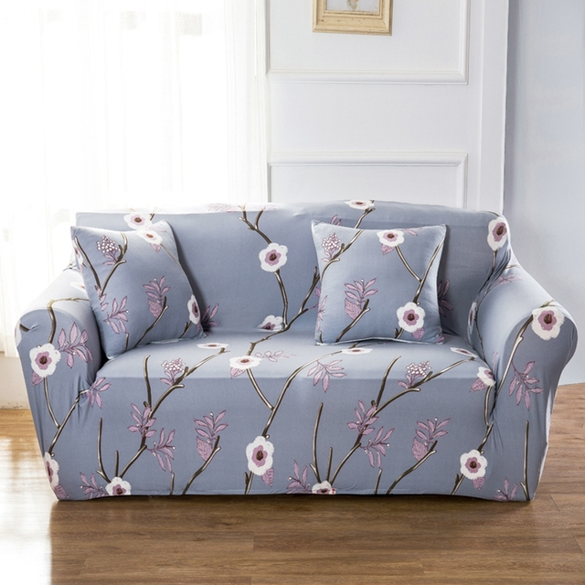 Universal Stretch Sofa Covers For Living Room Couch Loveseat Sofa Slipcovers  Polyester Floral Corner Sofa Covers