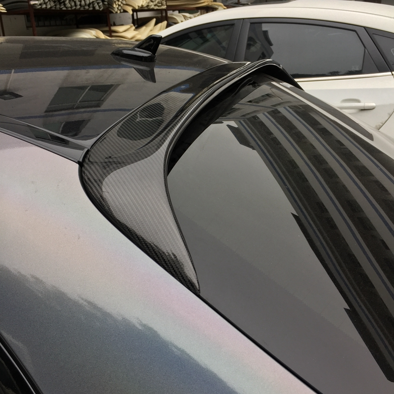 C Class Carbon Fiber Rear Roof spoiler Window wing For Mercedes Benz W205 Sedan 4 Door Only 15-17 C63 AMG C200 C250 C180 w205 abs car side fender vent trim e amg still for benz w205 c180 c200 c300 4 door not fit for c63 amg 2015 2018