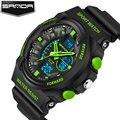 Sanda led digital hombres reloj de pulsera deporte militar relojes de los hombres 2017 top famosa marca de lujo hombre reloj relogio masculino hodinky
