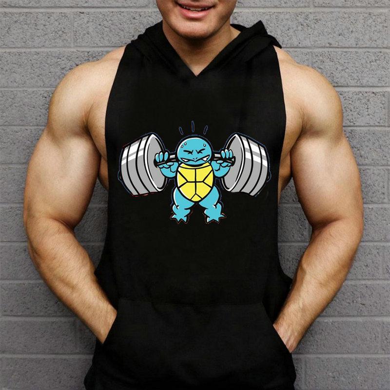 NEW Mens Man Hoodie Singlets Sweatshirts Mens   Tank     Tops   Stringer Bodybuilding Fitness Men's Man   Tank   Tees Shirts Man gyms Vest