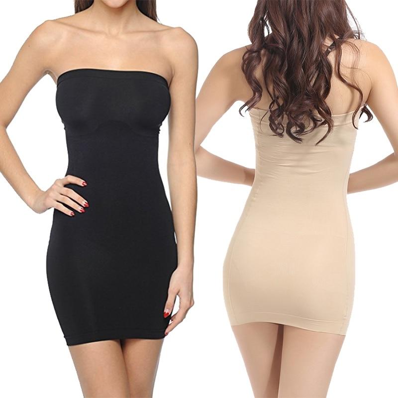 Feeshow Frauen Liebsten Control Slip Full Body Shaper Shapewear Nahtlose Mini Kleid Mode frauen Mantel Slim Fit Mini Kleider