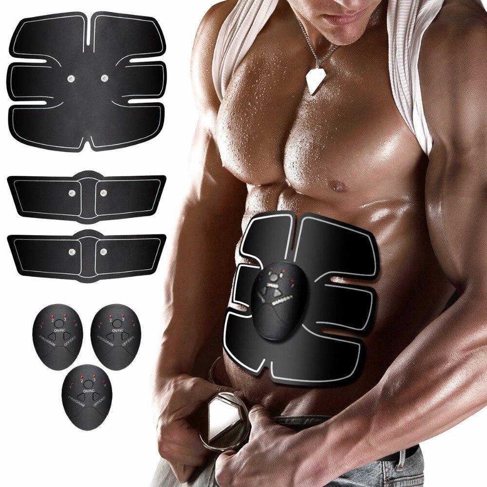 Smart Wireless Elektronische Muskel EMS Stimulator ABS Bauchmuskeln Trainer Roller Sticker Abnehmen Schönheit Maschine Massagegerät