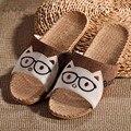 Summer Animal Boss Printed Home Linen Slippers Men Indoor\ Floor Non-slip Slides Flat Shoes Boys Gift