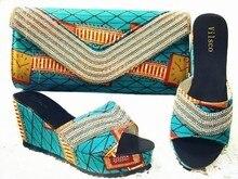 Hohe Qualität Schuhe Mit Passender Tasche Für Party Fashion steine Frauen Sandale Italienische Schuhe Und Tasche Set Zusammenpassende GL1-01