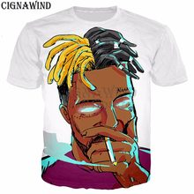 32cbab15f22212 Hip hop style Rapper XXXTANTACION RIP t shirt men women 3D print most  popular harajuku tshirt streetwear casual summer tops