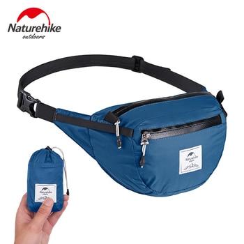 NatureHike 70g Lightweight Waist Pack Travel Outdoor Sports Bag Waterproof Hiking Running Folding Mini Waist Bag Pouch Pack naturehike yb02 multifunctional outdoor nylon waist bag blue gray 3l
