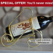 SPECIAL OFFER! Red wine rack fashion iron bottle holder with golden coating, stainless steel wine stand, free shipping!