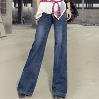 vintage bell bottom mid waist slim butt lifting boot cut wide leg flare women's jeans