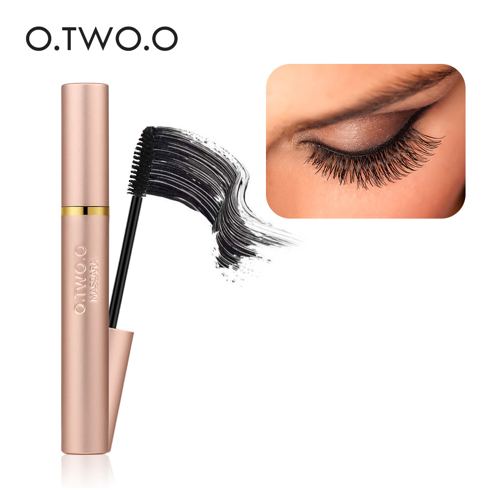 O. TWO.O 3D Fiber Lashes Dikke verlenging Mascara Lange zwarte Lash Wimpers Uitbreiding Wimpers Brush Makeup Pro Eye-Cosmetics