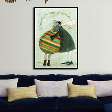 Nordic Softheart Couple Art Prints , Wall Painting Poster for Living Room Decoration, Canvas Graffiti Home Decor No Frame(China)
