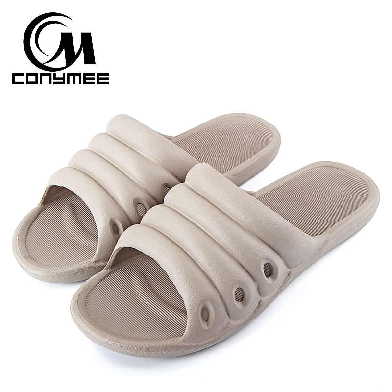 2f58d7b5257a71 CONYMEE 2018 Men Shoes Summer Sandals Fashion Sneakers Men s Home Indoor Slippers  Beach Flip Flops Bath