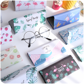Mimiyou Top-grade PU Spectacle Cases for Eyeglasses Fashion Folding Sunglasses Box Bag Portable Triangle Eyewear Protector