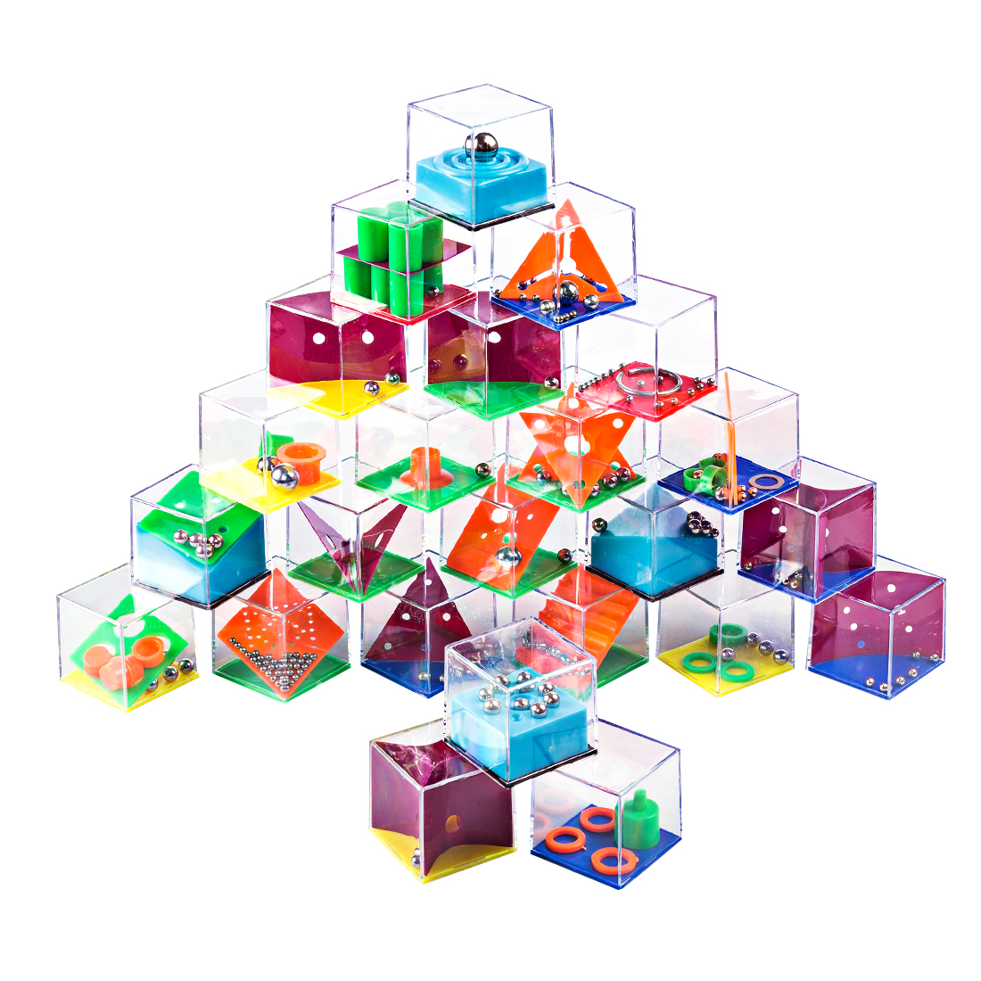 24 pces crianças brinquedos educativos 3d quebra-cabeça labirinto com grânulo jogo para adultos cubo cognição puzzle caixa enfant aprendizagem brinquedo jogos de mão
